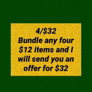 Bundle your $12 items to save!!!!